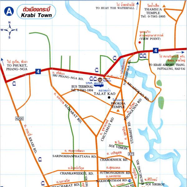 Krabi Town Map