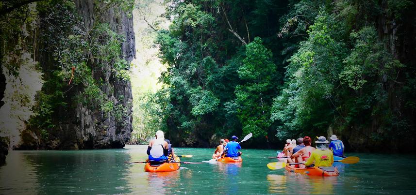 Krabi Sea Kayak - Tours kayak fullday Koh Hong Bor Thor Tha