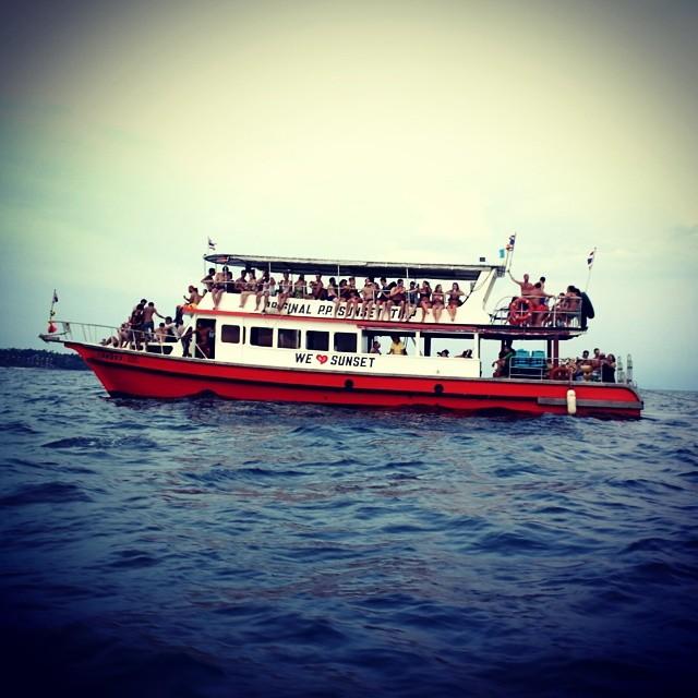 In sea speedboat